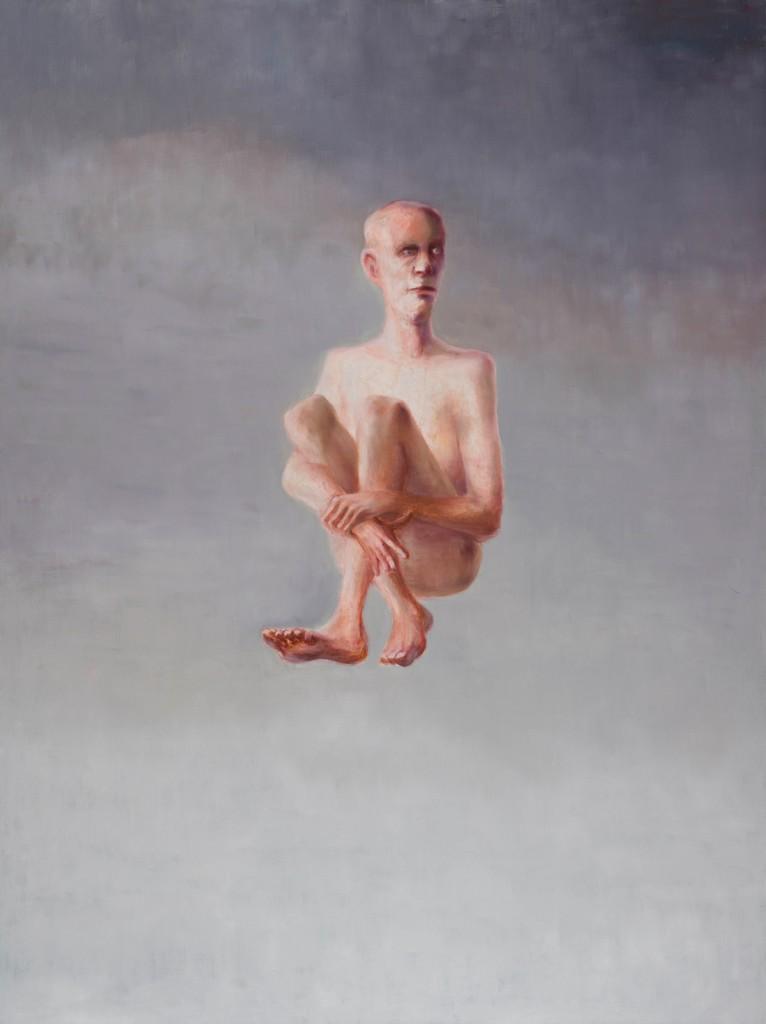 Fallender Realist, 160 x 120 cm, Öl auf Leinwand, 2014