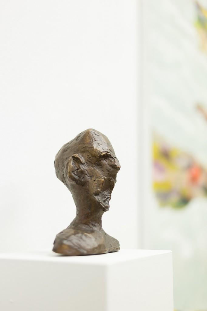 Schreiender Kopf, Bronze